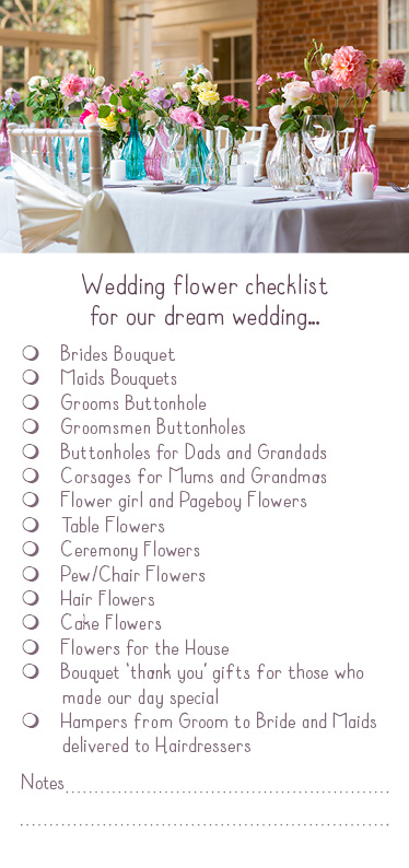 The Luxe Bloom Flyer checklist